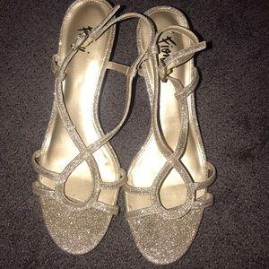 Gold sparkle Fioni heels